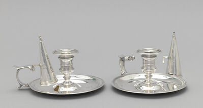 'Pair of chambersticks with snuffers', 1758