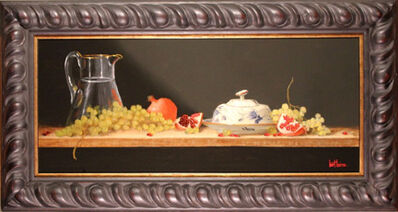 Bert Beirne, 'Virginia Butterdish, Pomegranates, and Green Grapes (dimensions are with frame)'