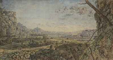 Hercules Segers, 'Mountain Valley with Fenced Fields', 1625-1630