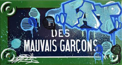 "FAT, 'Typical street plate of Paris ""Rue des Mauvais Garçons""- 4th district', 2019"