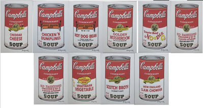 "Andy Warhol, 'Set of 10 lithographs ""Campbell's Soup"" II', 1986"