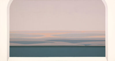 Helen Lundeberg, 'Night Flying In', 1984