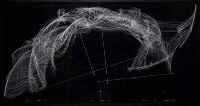 Jorinde Voigt, 'Umkehrung - Konstellation Algorithmus Adlerflug, 100 Adler, Strom, Himmelsrichtung, Windrichtung, Windstärke', 2007
