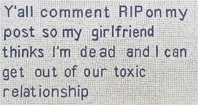 Josh Rowell, 'Toxic Relationship', 2020