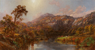 Jasper Francis Cropsey, 'Landscape with Cows near Warwick, New York', 1885