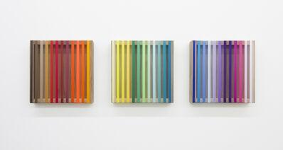 Brian Wills, 'Untitled (banded spectrum on walnut triptych)', 2018