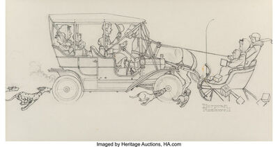 Norman Rockwell, 'Ford Motor Company Holiday Greeting Card Study', 1949