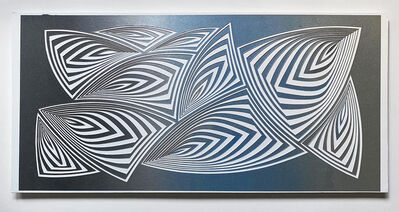 Elizabeth Gregory-Gruen, 'Cut with Surgical Scalpel on 2 ply Museum Board: 'Silver Blue'', 2020