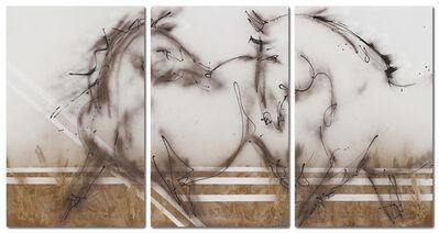 Donna Bernstein, 'Two Horses (Tryptich)', 2018