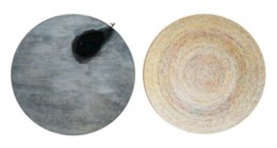 "Song Dong & Yin Xiuzhen, 'Chopsticks: Incision of Time ""Tree Ring"" and ""Black Hole"" Round 20121', 2012"