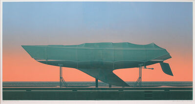 Christopher Pratt, 'Yacht Wintering', 1984