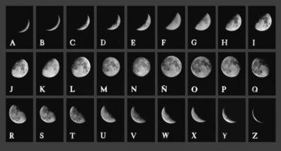 Leandro Katz, 'Lunar Alphabet', 1972-2012