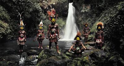 Jimmy Nelson, 'XV 66 Tumbu, Hangu, Peter, Hapiya, Kati, Hengene & Steven Huli Wigmen, Ambua Falls, Tari Valley Papua New Guinea - Huli, Papua New Guinea', 2010