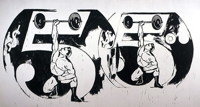 Andy Warhol, 'Double $5/Weightlifter', 1985-1986