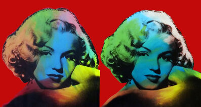Steve Kaufman, 'DOUBLE MARILYN - NORMA JEAN (RED)', 1995-2005