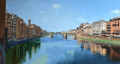 David Wheeler, 'Study: View of the River Arno from Ponte Vecchio Bridge, Florence'