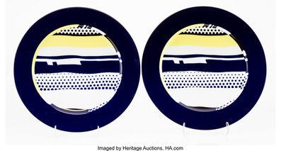 Roy Lichtenstein, 'Untitled, set of two plates', c. 1990