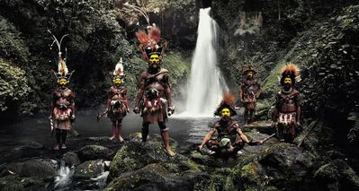Jimmy Nelson, 'XV 66, Tumbu, Hangu, Peter, Hapiya, Kati, Hengene & Steven, Huli Wigmen, Ambua Falls, Tari Valley, Papua New Guinea', 2010