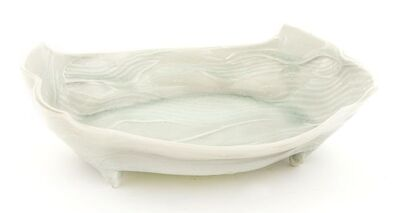 Joanna Howells, 'a celadon leaf moulded bowl, of oval form, raised on lug feet'