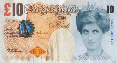 Banksy, 'Di-Faced Tenner with COA hand-signed', 2004