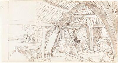 Edwin Landseer, 'The Barn'