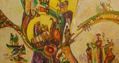 Abdulhalim Radwi, 'Qarawyyat (Village Scenes)', 2001