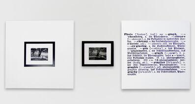 Joseph Kosuth, 'One and three photograph (Eng.-German)', 1965