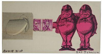 Ray Johnson, 'Ed Plunkett', 1961