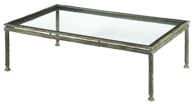 Louis Cane, 'Patinated-Bronze and Glass Low Table'