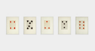 Donald Sultan, 'Playing Cards: Set of Five', 1989