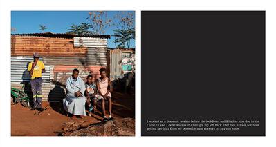 Jabulani Dhlamini, 'Lebohang Raethole, Boitumelo Mathibu and her kids, Waterworks, Soweto', 2020
