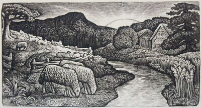 Edward Calvert, 'The Sheep of his Pasture', 1828