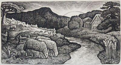Edward Calvert, 'The Sheep of his Pasture', 1828