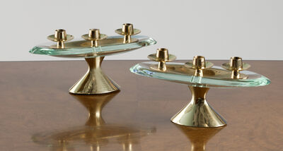 Max Ingrand, 'Rare Pair Of 3 Light Candelabra', c. 1960