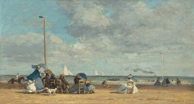 Eugène Boudin, 'Beach at Trouville', 1864
