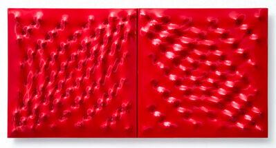 Enrico Castellani, 'Superficie rossa', 2006