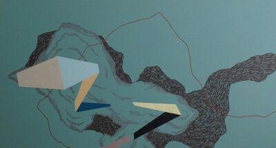 Zsófi Barabás, 'Ocher Line - Green Space', 2015