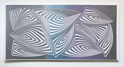 Elizabeth Gregory-Gruen, 'Cut with Surgical Scalpel on 2 ply Museum Board: 'Silver Purple'', 2020