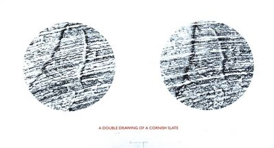 Richard Long, 'A double drawing...', 1995