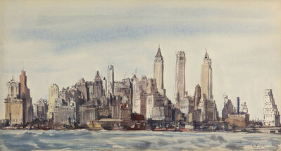Reginald Marsh, 'New York Skyline', 1931