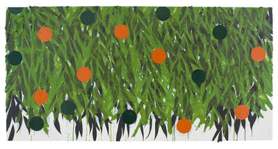 Donald Sultan, 'Mimosa with Orange and Green Oct 3 2018', 2018