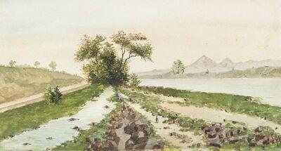 Alfredo Volpi, 'Bord de rivière au Brésil'