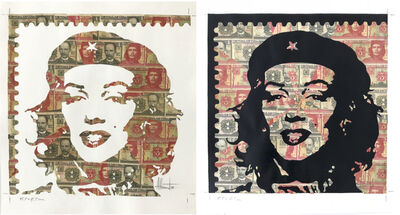 Adrian Rumbaut, 'Positive & Negative (Stamps), 2018, Diptych', 2018