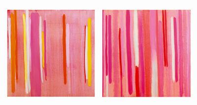 Anastasia Pelias, 'Lucky Stripe, Rosy (diptych)', 2000