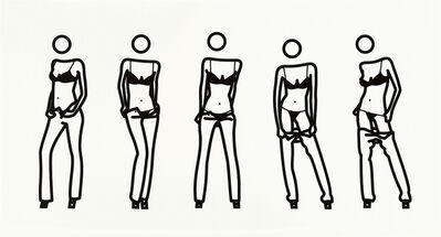 Julian Opie, 'Bijou gets undressed #6', 2004