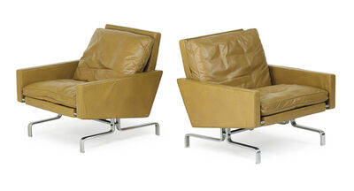 Poul Kjærholm, 'Pair of lounge chairs (PK 31/1)', 1950s