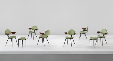 Carlo Mollino, 'Set of six armchairs and two stools, from the Lutrario Ballroom, Turin', circa 1959