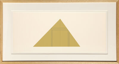 Robert Mangold (b.1937), 'untitled from Book of Silk Screen Prints: Multiple Panel Paintings 1973-1976', 1977