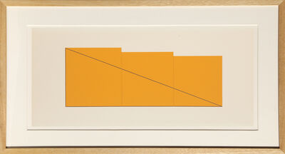 Robert Mangold, 'untitled from Book of Silk Screen Prints: Multiple Panel Paintings 1973-1976', 1977