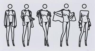Julian Opie, 'Woman taking off man's shirt in five stages. (K21).', 2004